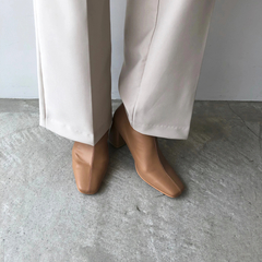 willfully(ウィルフリー) |clouchy leather square toxu boots